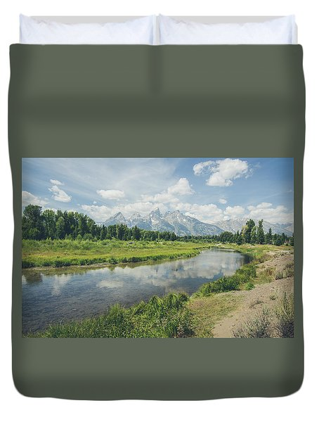 Teton Reflections Duvet Cover