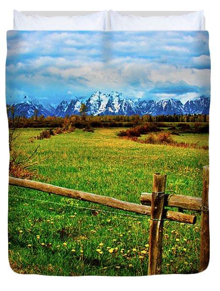 Teton Spring Duvet Cover