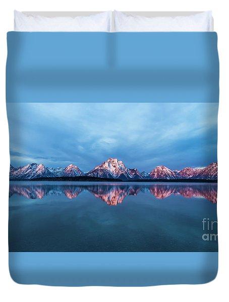 Teton Sunrise Duvet Cover
