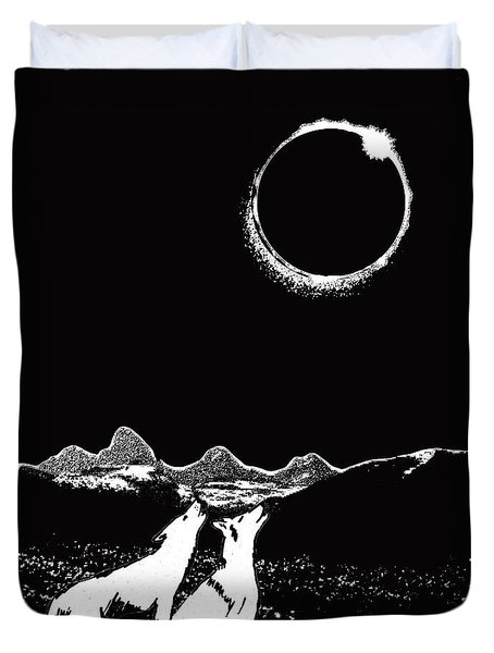 Teton Total Solar Eclipse Duvet Cover