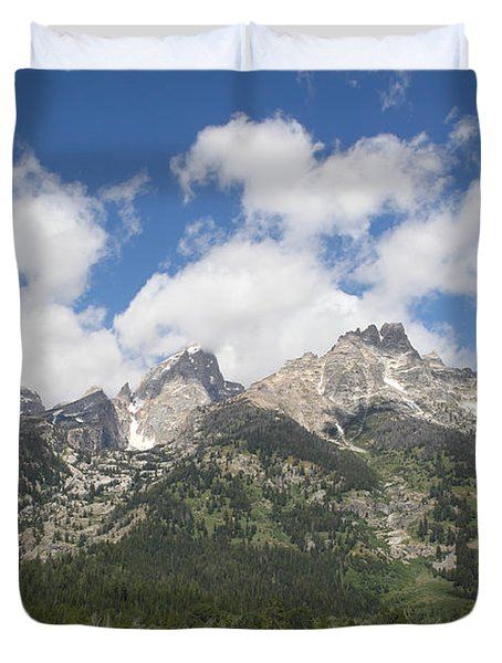 Teton View Duvet Cover