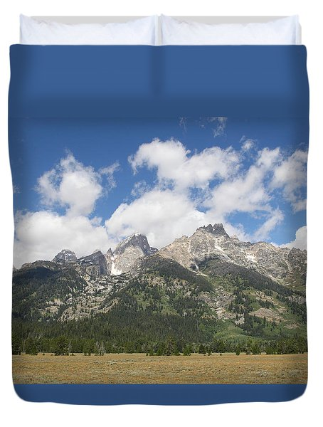 Teton View Duvet Cover