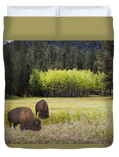Duvet Cover featuring the photograph Tetonka by John Hix