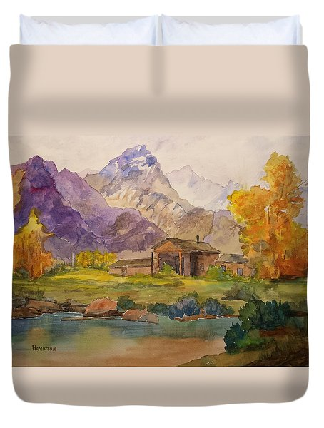 Tetons Ranch Duvet Cover