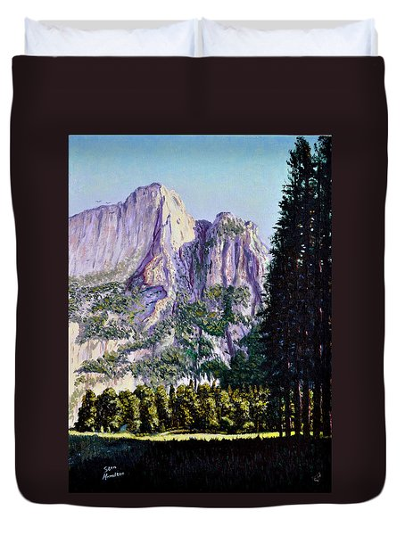 Tetons Duvet Cover by Stan Hamilton