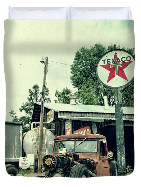 Texaco Duvet Cover