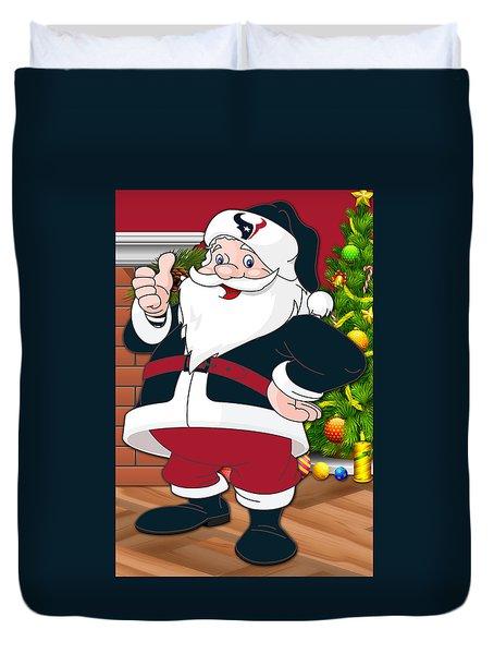 Texans Santa Claus Duvet Cover