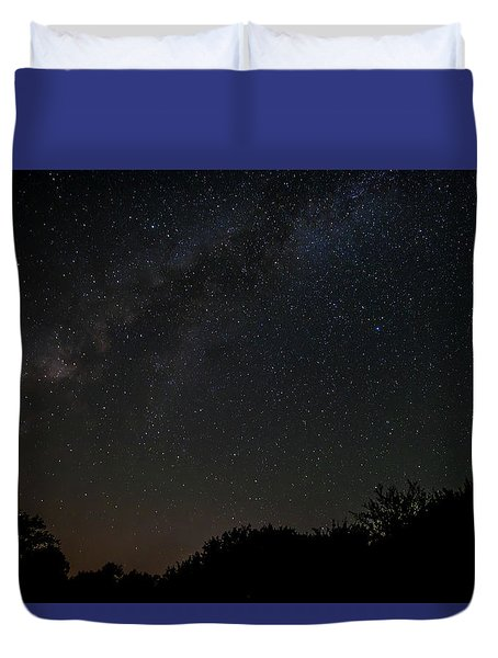 Texas At Night Duvet Cover