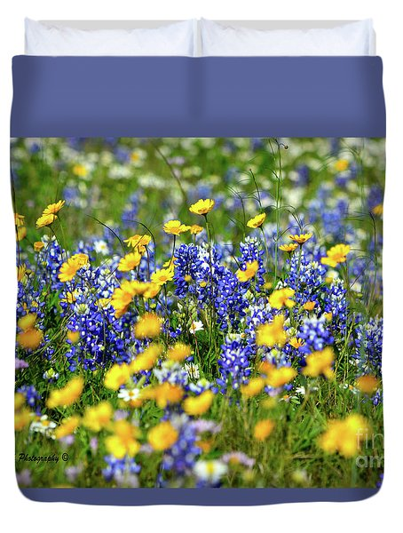 Texas Blue Bonnet  Duvet Cover