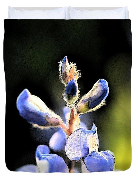 Texas Blue Bonnet Impressions 1 Duvet Cover by Carolina Liechtenstein