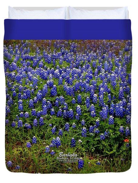 Texas Bluebonnets #0484 Duvet Cover