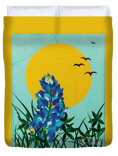 Texas Bluebonnet Duvet Cover