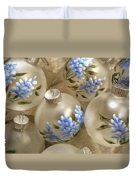 Texas Bluebonnet Ornaments Duvet Cover
