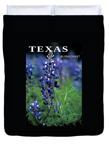 Duvet Cover featuring the mixed media Texas Bluebonnet State Flower by Daniel Hagerman