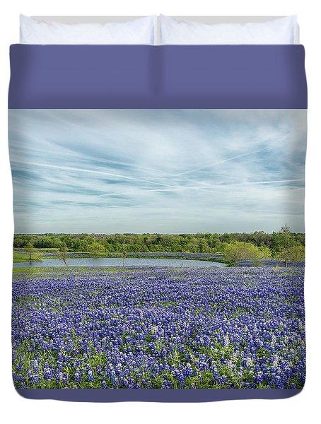 Texas Bluebonnets 13 Duvet Cover
