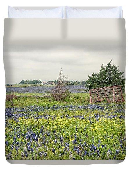 Texas Bluebonnets 3 Duvet Cover
