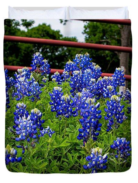 Texas Bluebonnets In Ennis Duvet Cover