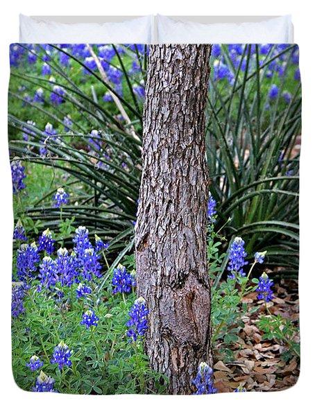 Texas Bluebonnets Duvet Cover