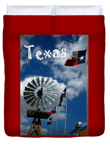 Duvet Cover featuring the photograph Texas by Bob Pardue