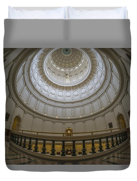 Texas Capitol Dome Wide Angle Duvet Cover