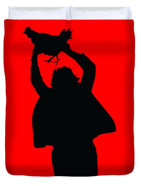 Texas Chicken Massacre Duvet Cover