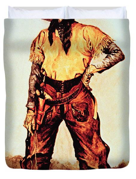 Texas Cowboy Duvet Cover by Frederic Remington