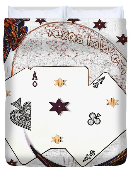 Texas Hold Em Poker Duvet Cover by Pepita Selles