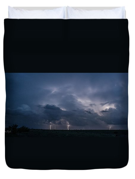 Texas Light Show Duvet Cover
