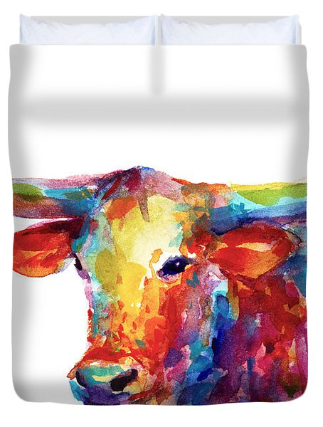 Texas Longhorn Art Duvet Cover
