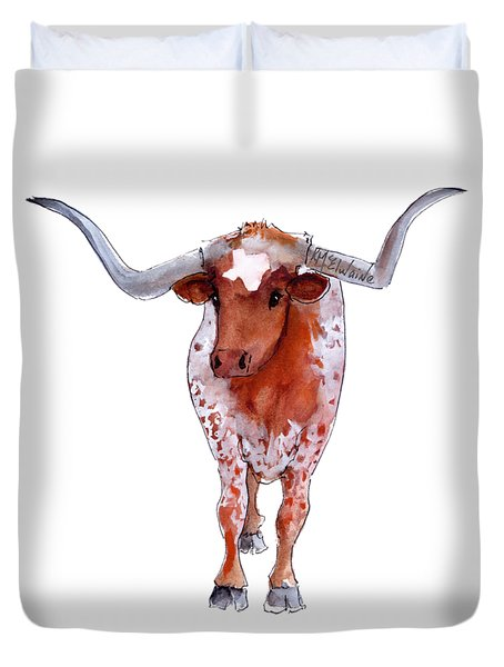 Texas Longhorn Branded  Duvet Cover