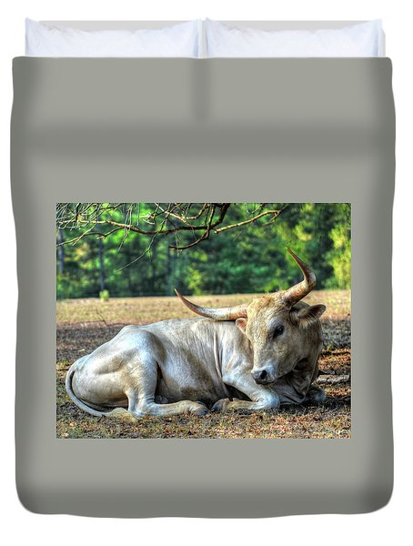 Texas Longhorn Gentle Giant Duvet Cover