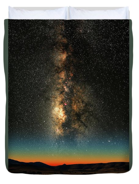 Texas Milky Way Duvet Cover