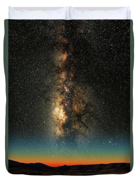 Texas Milky Way Duvet Cover