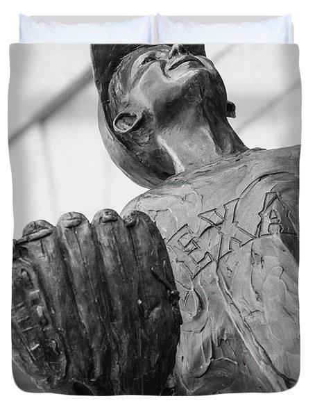 Texas Rangers Little Boy Statue Duvet Cover