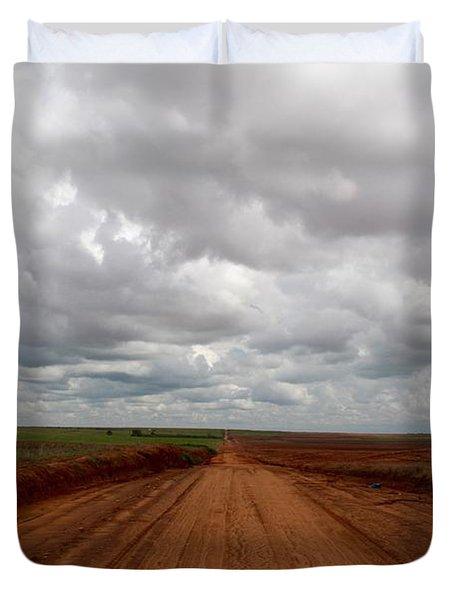 Texas Red Road Duvet Cover