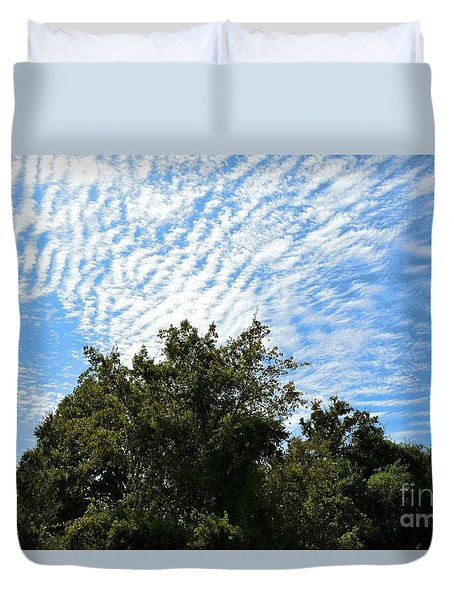 Duvet Cover featuring the photograph Texas Scene - Midday  by Ray Shrewsberry