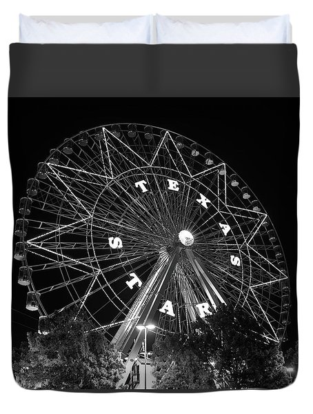 Texas Star 061116 V2bw Duvet Cover
