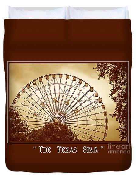Texas Star In Gold Duvet Cover