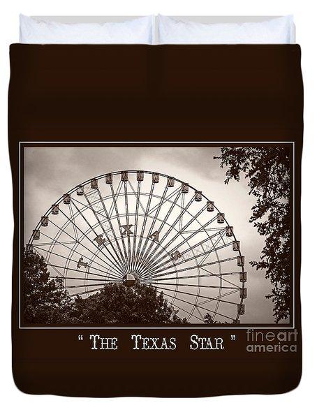 Texas Star In Sepia Duvet Cover