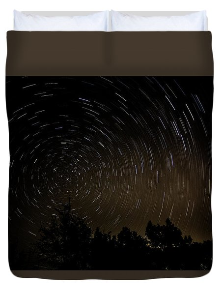 Texas Star Trails Duvet Cover