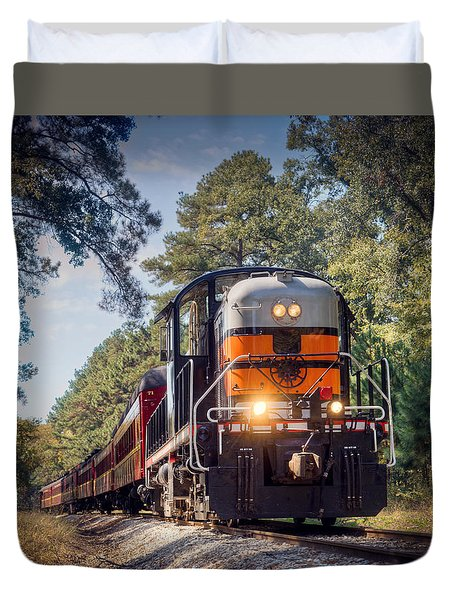 Texas State Railroad Duvet Cover by Ray Devlin