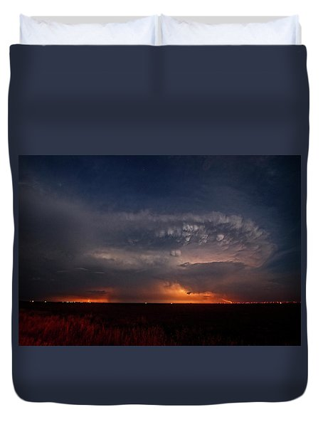 Texas Storm Duvet Cover