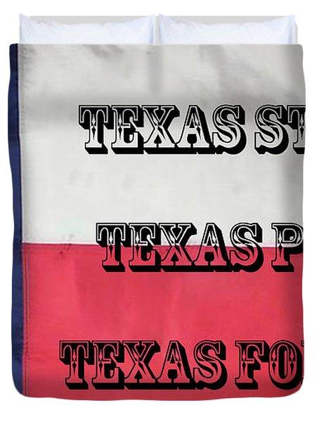 Texas Strong Duvet Cover