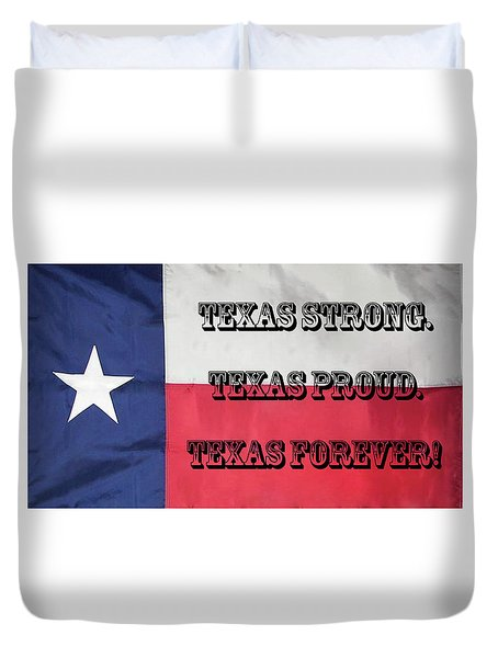 Texas Strong Duvet Cover
