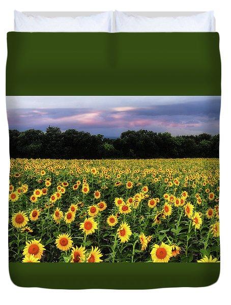 Texas Sunflowers Duvet Cover
