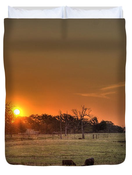 Texas Sunrise Duvet Cover