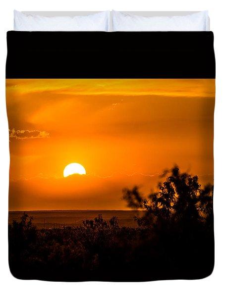 Texas Tangerine Duvet Cover