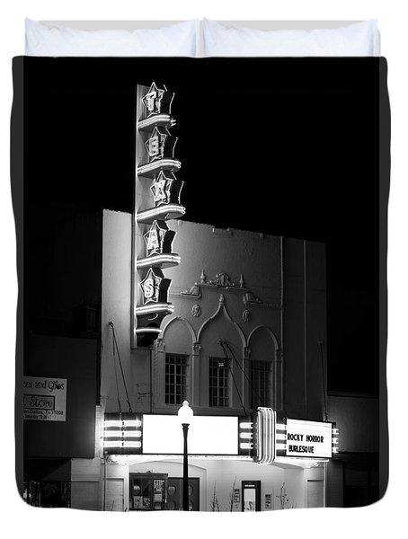 Texas Theater Oak Cliff Bw Duvet Cover