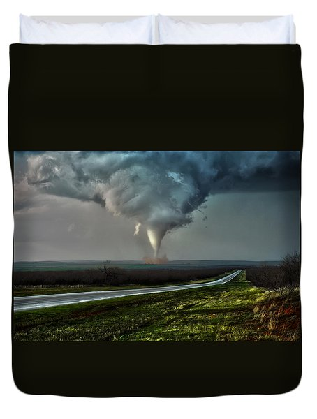 Texas Twister Duvet Cover