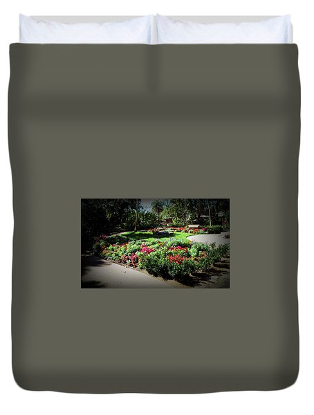Duvet Cover featuring the photograph Texture Drama Garden Park by Aimee L Maher Photography and Art Visit ALMGallerydotcom
